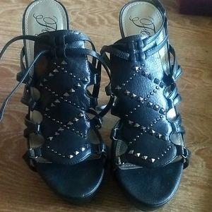 Fergie Gangster Black Shoe